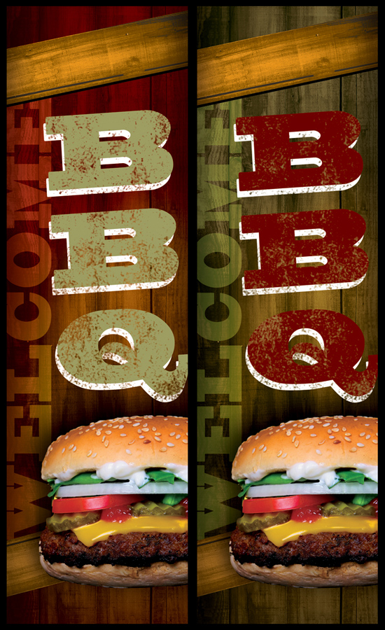 BBQ western style restaurant banner advertisement