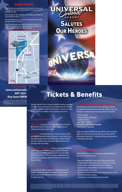 Universal Orlando Military Brochure