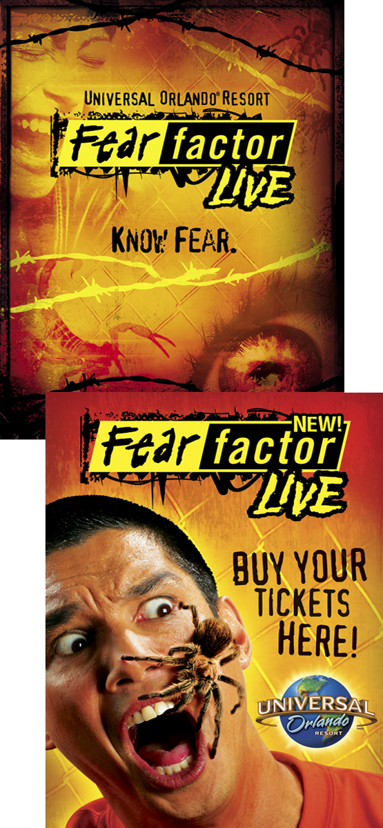 Universal Orlando Fear Factor Live Poster and Advertisement